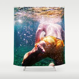 Into The Deep Shower Curtain