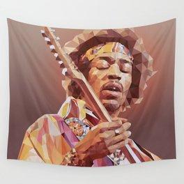 Jimi Hendrix Guitar God Wall Tapestry