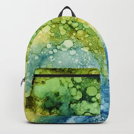 blue green and teal rays Backpack