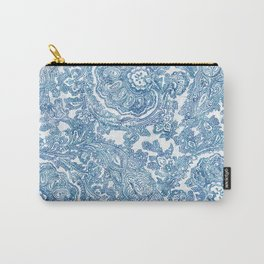 Blue Boho Paisley Pattern II Carry-All Pouch