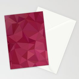 Maroon triangle tiles Stationery Cards