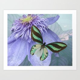 Floral Butterfly Art Print