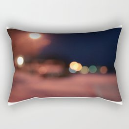 Colors Sing to Me on Snowy Nights Rectangular Pillow