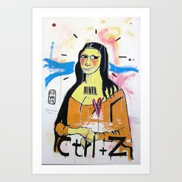 Gioconda - RDVM05 (Paint Canvas) Art Print