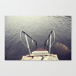 Jump, into the sea Canvas Print