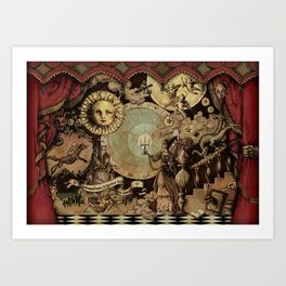The mediaeval theater Art Print