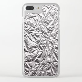 Silver Paper Clear iPhone Case