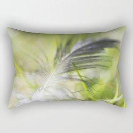 Feather on Grass Rectangular Pillow