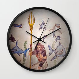 Double R King of the Sea Wall Clock