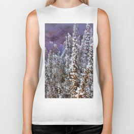 Frost On Heather And Wild Grasses Biker Tank