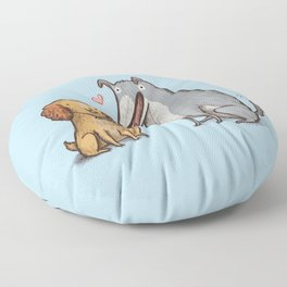 Lady & the Tramp Floor Pillow