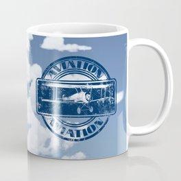 Retro Aviation Art Coffee Mug