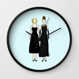 Little Black Dress of Audrey Marilyn Wall Clock