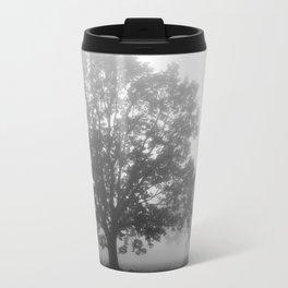 Trees on a Misty Morning Metal Travel Mug