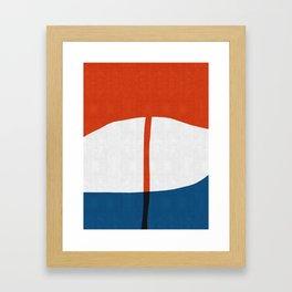 Blue and red composition IV Framed Art Print