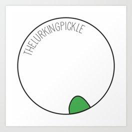 The Lurking Pickle Art Print