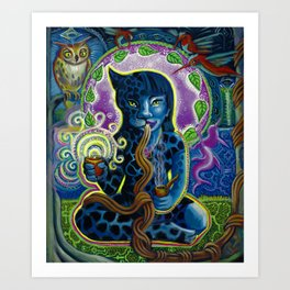 Jaguar Shaman Woman Art Print