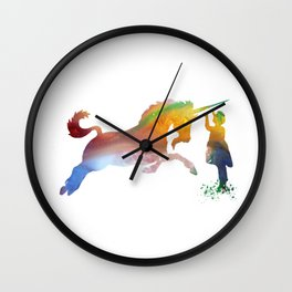 Unicorn art Wall Clock
