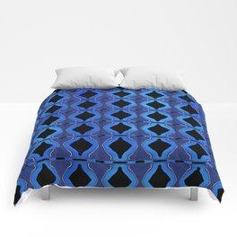 Pattern Blue Bicones Comforters