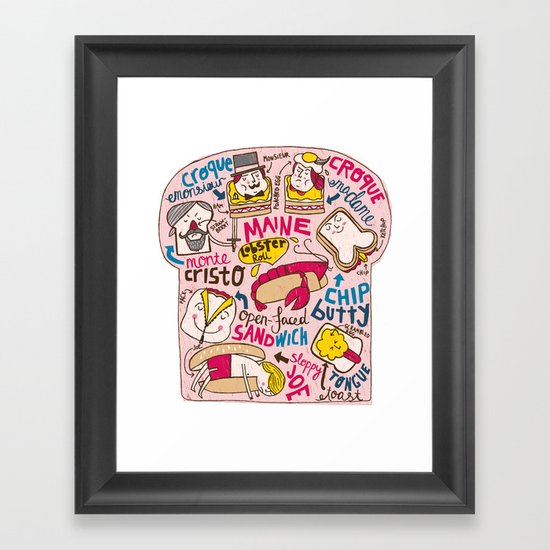 Sandwich Chart Framed Art Print