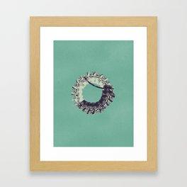 Typography - Steampunk Number 0   Framed Art Print