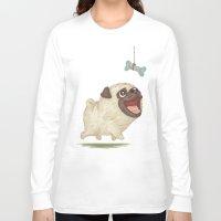 dog Long Sleeve T-shirts featuring Dog by Toru Sanogawa