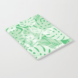 Tropical Shadows - Vibrant Green / White Notebook