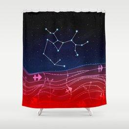 Sagittarius Zodiac Constellation Design Shower Curtain