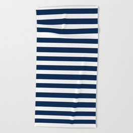 Navy-White ( Stripe Collection ) Beach Towel