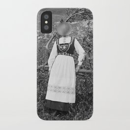 Miss Onion by the bushes. 1915. iPhone Case