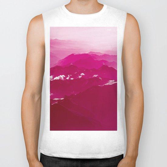 Abstract mountains Biker Tank