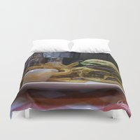 fries Duvet Covers featuring Burger & Fries by OneMan Photography