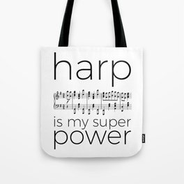 Harp is my super power (2) (white) Tote Bag