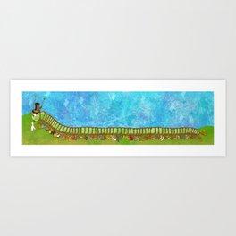 Caterpillar Shoe Fetish Art Print