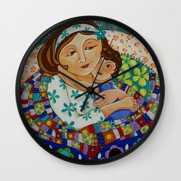 """Me, My Son And An Old Blanket"" Wall Clock"