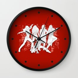 Get in Formation Wall Clock