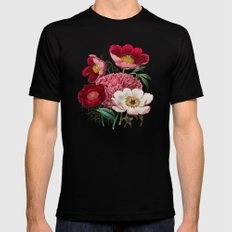 Flower garden III Mens Fitted Tee MEDIUM Black