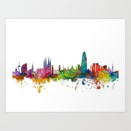 4b52564ea Barcelona Spain Skyline Art Print
