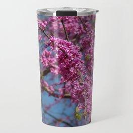 Blue skies and redbud in spring Travel Mug