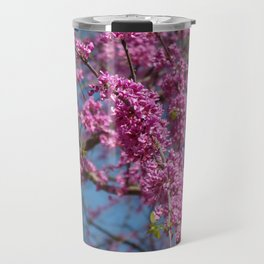 Blue skies and redbud in spring Travel Mug