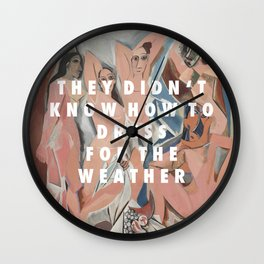 Les Demoiselles du Weekend Wall Clock