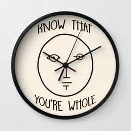 Know That You're Whole Wall Clock