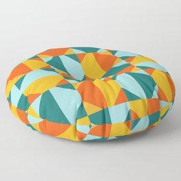 Colorful Quilt Geo Tile Floor Pillow