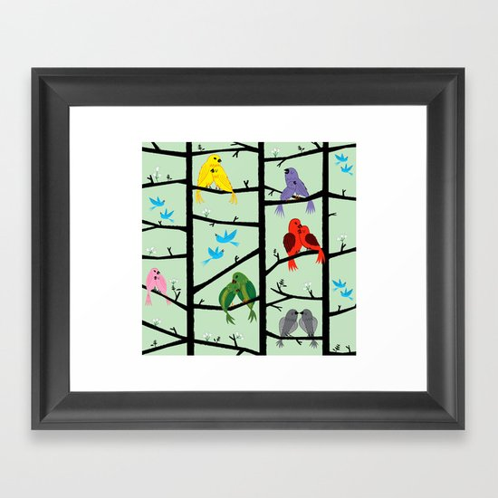 The Lovebirds Framed Art Print