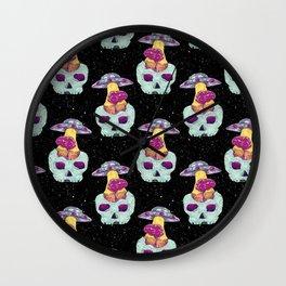 skull alien Wall Clock