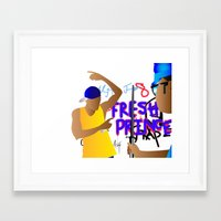 fresh prince Framed Art Prints featuring Fresh Prince by Hannah  Aryee