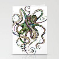 pink floyd Stationery Cards featuring Octopsychedelia by TAOJB