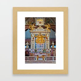 Altar of the St. Mary of the Altar of Heaven Basilica Framed Art Print
