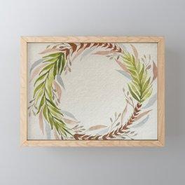 Fern Watercolour Wreath Framed Mini Art Print