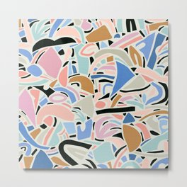Contemporary Shapes N.01 / Spring Abstraction Metal Print